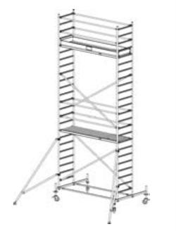 Алюминиевая вышка-тура Krause Stabilo 10 7,4м 741349 - фото 157175