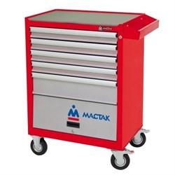 Инструментальная тележка MACTAK Оптима, 5 полок и отсек, красная 522-05581MR - фото 170853