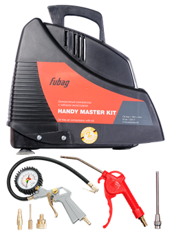 Безмасляный поршневой компрессор Fubag Handy Master Kit + 5 предметов - фото 171471