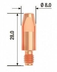 Контактный наконечник Fubag M6х28 мм ECU D=0,8 мм, 25 шт. - фото 171529