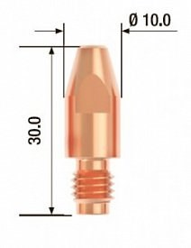 Контактный наконечник Fubag M8х30 мм ECU D=1,2 мм, 25 шт. - фото 171534