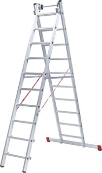 Алюминиевая двухсекционная индустриальная лестница NV 522 Новая Высота 2х17 5220217 - фото 273020