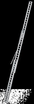 Алюминиевая выдвижная лестница Krause Stabilo 3х18 800770 (810021) - фото 278980