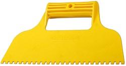 Зубчатый шпатель Stayer пластиковый 230мм 8х8 1022-8 - фото 81442