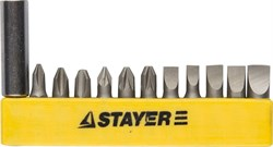 "Набор бит Stayer ""Master"" 12шт 2609-H12_z01 - фото 82210"