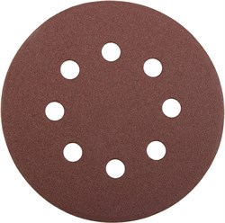 """Шлифовальный круг Stayer """"MASTER"""" абразивный, 8 отверстий, P80 125мм 5шт 3580-125-080 - фото 83060"""