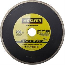 """Отрезной диск Stayer """"PROFESSIONAL"""" алмазный, сплошной 200мм 3665-200_z01 - фото 83636"""