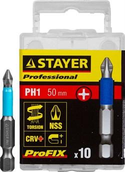 """Торсионные биты Stayer Stayer """"Professional-Profix"""" PH1 50мм 10шт 26203-1-50-10_z01 - фото 86199"""