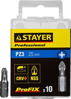 "Биты Stayer ""Professional-Profix"" PZ3 25мм 10шт 26221-3-25-10_z01 - фото 86217"