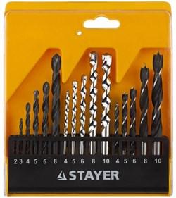 """Набор сверл Stayer """"STANDARD"""" комбинированный 16 предметов 29720-H16 - фото 88573"""