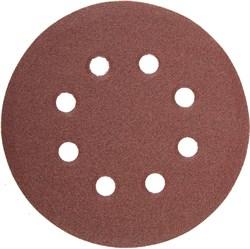"""Шлифовальный круг Stayer """"MASTER"""" абразивный, 8 отверстий, P80 115мм 5шт 35450-115-080 - фото 89986"""