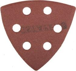 """Шлифовальный треугольник Stayerr """"MASTER""""  перфорированный, P180, 93мм 5шт 35460-180 - фото 90017"""