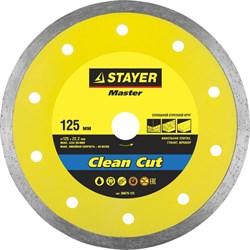 """Отрезной диск Stayer """"MASTER"""" алмазный, сплошной 125мм 36675-125 - фото 90091"""