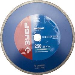 Отрезной диск ЗУБР, алмазный, сплошной, 25,4х250мм 36655-250_z01 - фото 90637