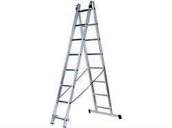 Алюминиевая двухсекционная лестница Зубр 2х9 38821-09 - фото 96229
