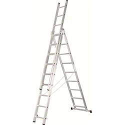 Алюминиевая трехсекционная лестница Зубр 3х10 38831-10 - фото 96230