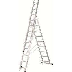 Алюминиевая трехсекционная лестница Зубр 3х8 38831-08 - фото 96234