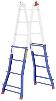 Телескопическая шарнирная лестница Colombo Pratic 5+5 AC 2x20 - фото 97737