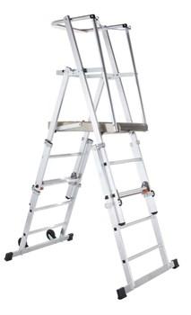 Телескопическая лестница-платформа Zarges, 5 ступеней 41325 - фото 98872