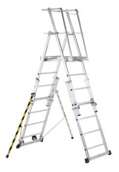 Телескопическая лестница-платформа Zarges, 9 ступеней 41327 - фото 98878
