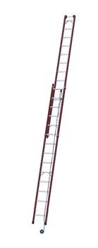 Диэлектрическая выдвижная лестница Zarges Z600 с тросом 2х16 41162 - фото 98964
