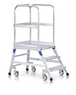 Передвижная лестница с платформой Zarges Z600 односторонняя, 5 ступеней 41953 - фото 99725