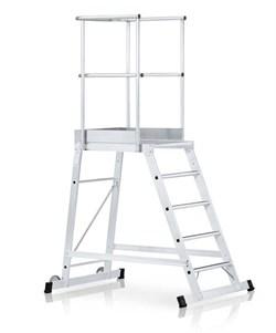 Передвижная лестница с платформой Zarges Z600 односторонняя, 4 ступени 40064 - фото 99780