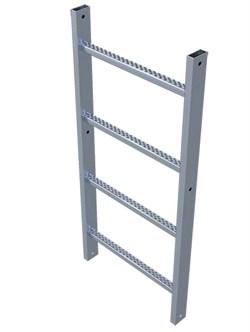 Анодированная пожарная лестница Zarges Z600 секция 1,96м 42240 - фото 99886