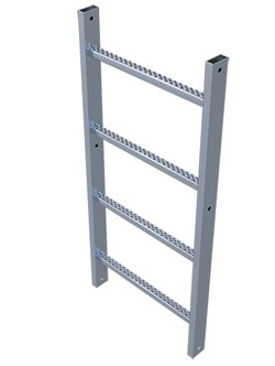 Стальная пожарная лестница Zarges Z600 секция 1,12м 44286 - фото 99900