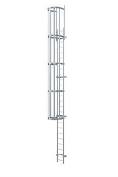 Наружная пожарная лестница Zarges Z600 оцинкованная сталь, 8,5м 58385 - фото 99933