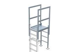 Спуск с переходной площадкой Zarges Z600 для пожарной лестницы 44181