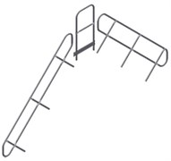 Поручень и перила площадки Zarges Z600, 4 ступени, съемные 42359974