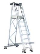 Передвижная лестница с платформой Svelt Castellana односторонняя, 15 ступеней SCAST515