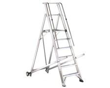 Передвижная лестница с платформой Svelt Vera односторонняя, 10 ступеней VERA010