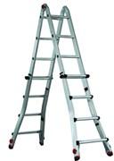 Телескопическая шарнирная лестница Svelt Euroscalissima 8х8