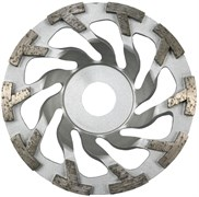 Шлифовальная чашка Турбо-сегмент KERN TS TURBO для бетона и природного камня диаметром 125мм с посадкой 20 мм