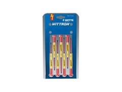 Набор диэлектрических отверток Witte Wittron VDE PH/шлиц для прецизионных работ 7 шт в блистере 89377