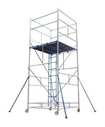 Алюминиевая вышка-тура ВРПА-01 9,1 м, разъемный помост