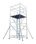 Алюминиевая вышка-тура ВРПА-01 14,7 м, разъемный помост