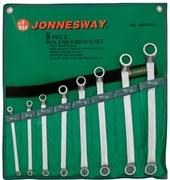 Набор накидных изогнутых ключей Jonnesway в сумке, 6-22 мм, 8 предметов W23108S