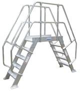 Алюминиевый переход с платформой Krause 600мм 6 ступеней 45° 826053