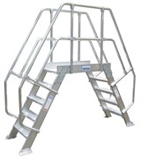 Алюминиевый переход с платформой Krause 600мм 9 ступеней 45° 826084