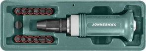 Ударная отвертка Jonnesway с битами SL/PH/HEX 14 предметов AG010138