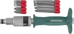 Ударная отвертка Jonnesway с битами SL/PH 5 предметов AG010139