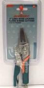 Зажимные клещи Jonnesway с удлиненными губками и прорезиненными ручками 160 мм P36M06C