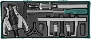 Набор съемников и приспособлений для обслуживания приводных шкивов в ложементе Jonnesway AI10002SP