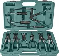 Набор щипцов для демонтажа пружинных хомутов патрубков, 9 предметов Jonnesway AR060024A