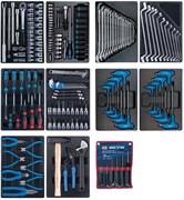 Набор инструментов для тележки King Tony 173 предмета в 10 ложементах 932-000MRD-MT