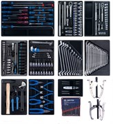 Набор инструмента для тележки King Tony 204 предмета в 10 ложементах 946-100MRD-MT