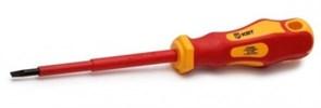 Диэлектрическая отвертка КВТ Стандарт шлиц 3x75